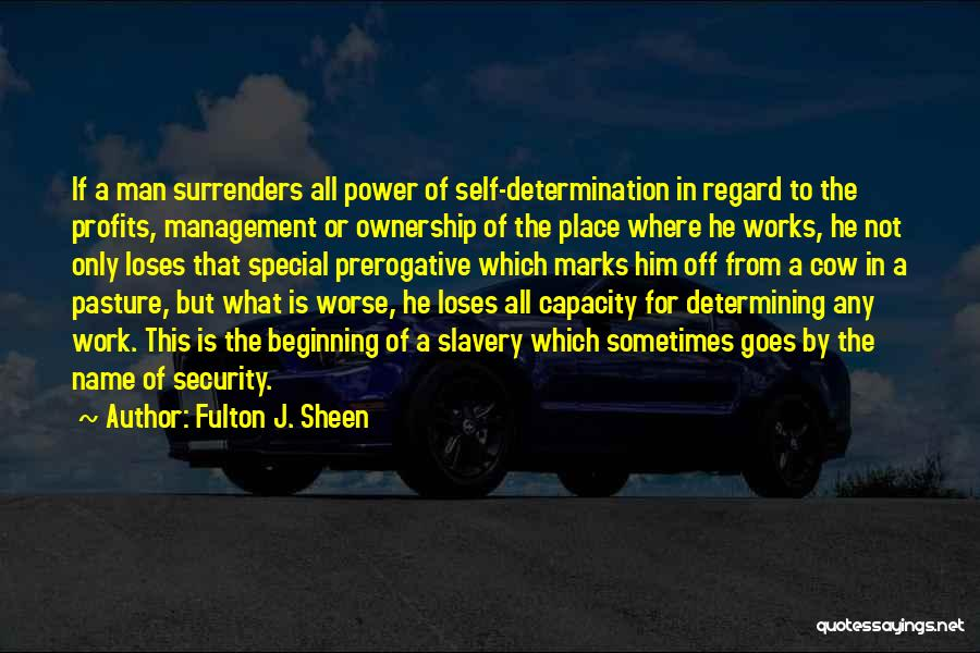 Self Ownership Quotes By Fulton J. Sheen