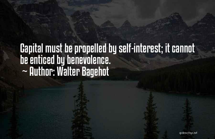 Self Propelled Quotes By Walter Bagehot