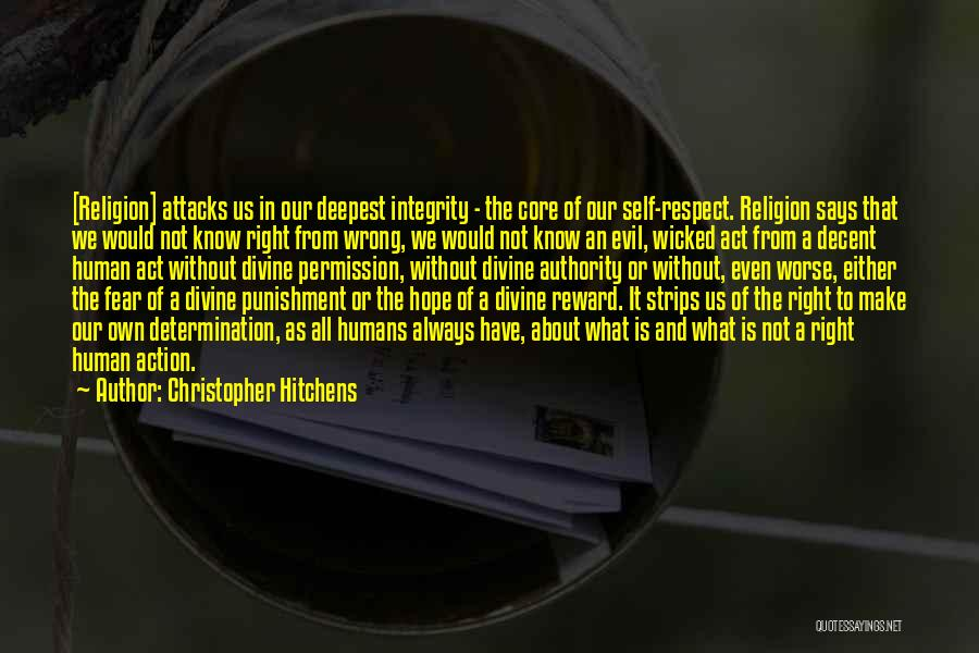 Self Punishment Quotes By Christopher Hitchens