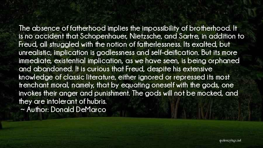 Self Punishment Quotes By Donald DeMarco