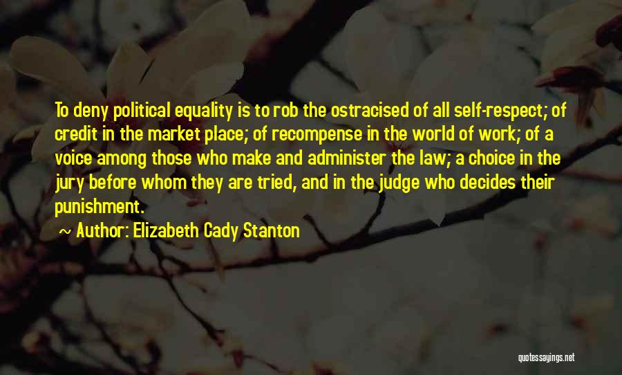 Self Punishment Quotes By Elizabeth Cady Stanton