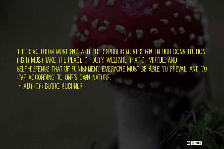 Self Punishment Quotes By Georg Buchner