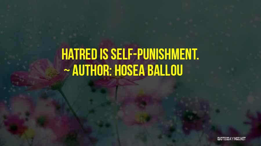 Self Punishment Quotes By Hosea Ballou