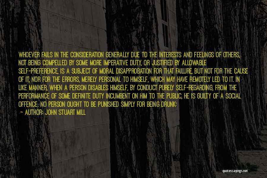 Self Punishment Quotes By John Stuart Mill