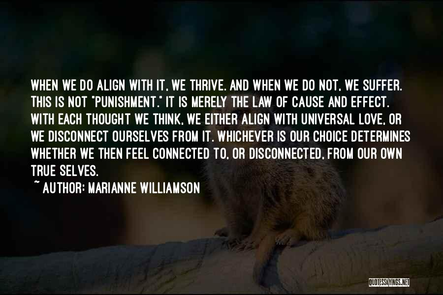Self Punishment Quotes By Marianne Williamson