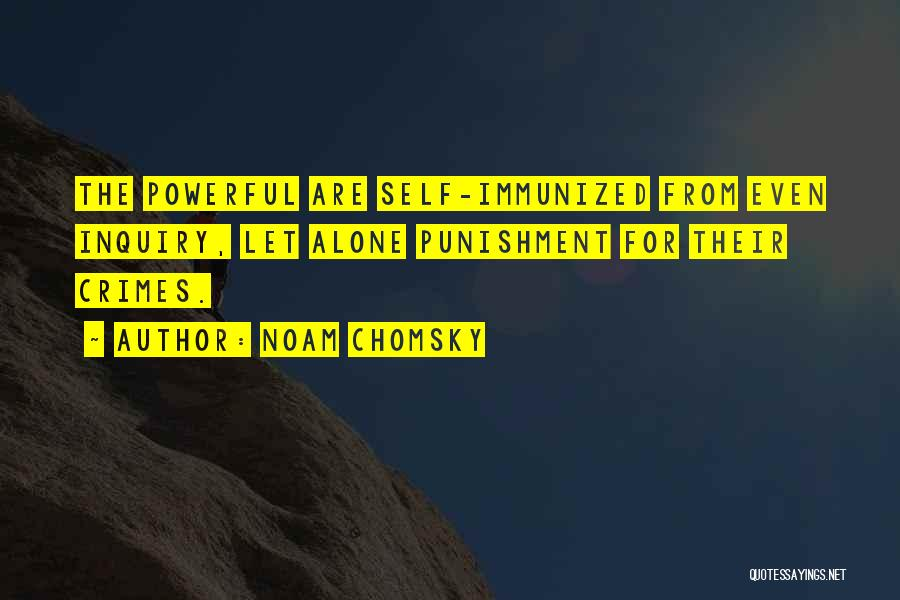 Self Punishment Quotes By Noam Chomsky