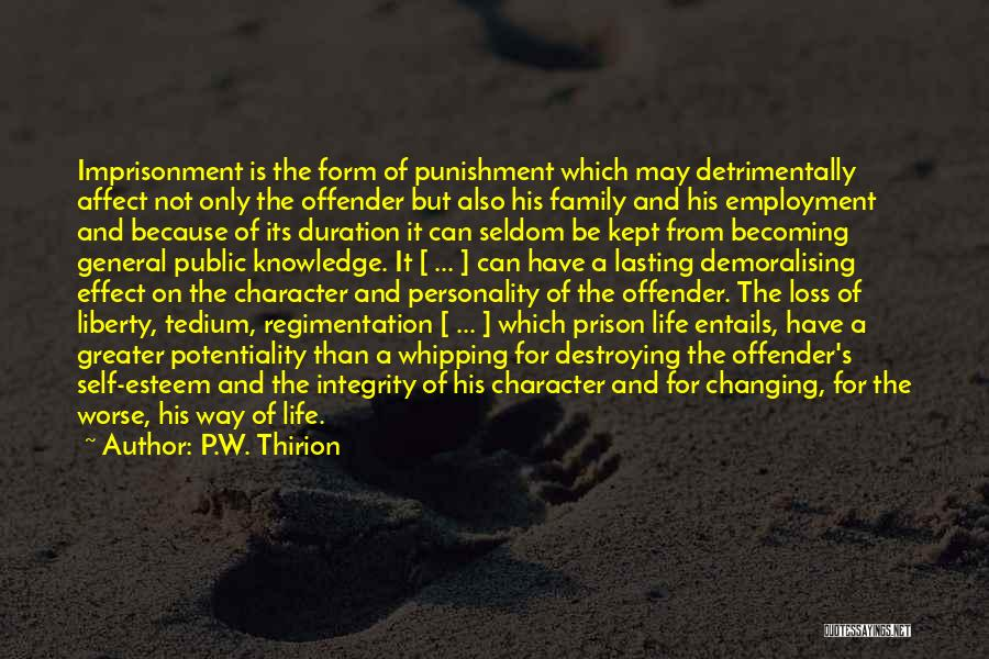 Self Punishment Quotes By P.W. Thirion
