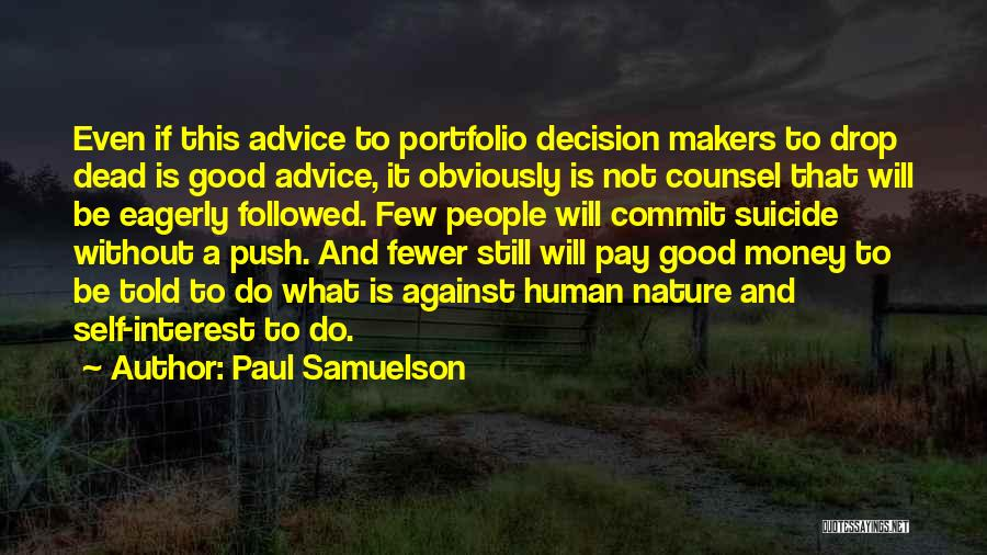 Self Push Quotes By Paul Samuelson