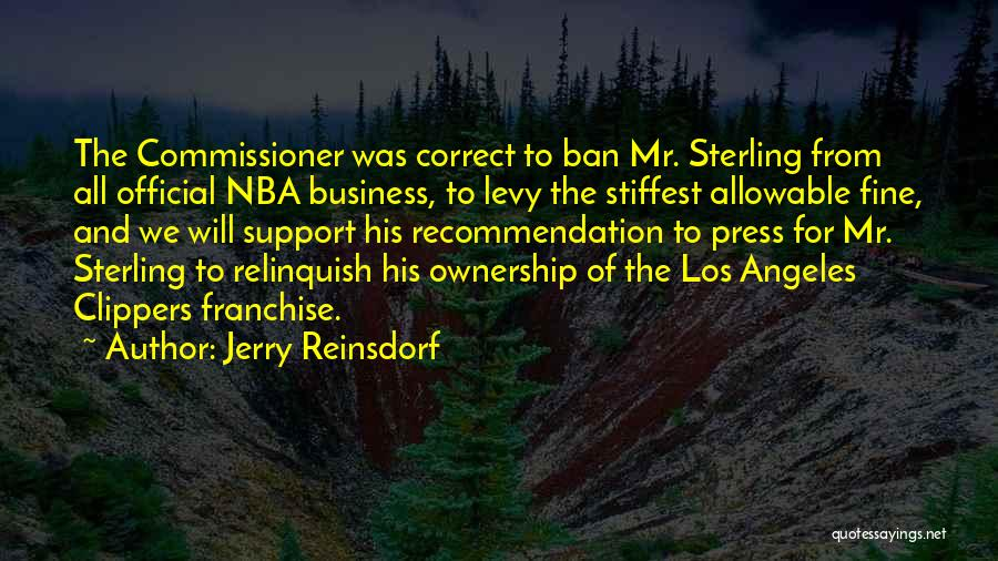Self Recommendation Quotes By Jerry Reinsdorf