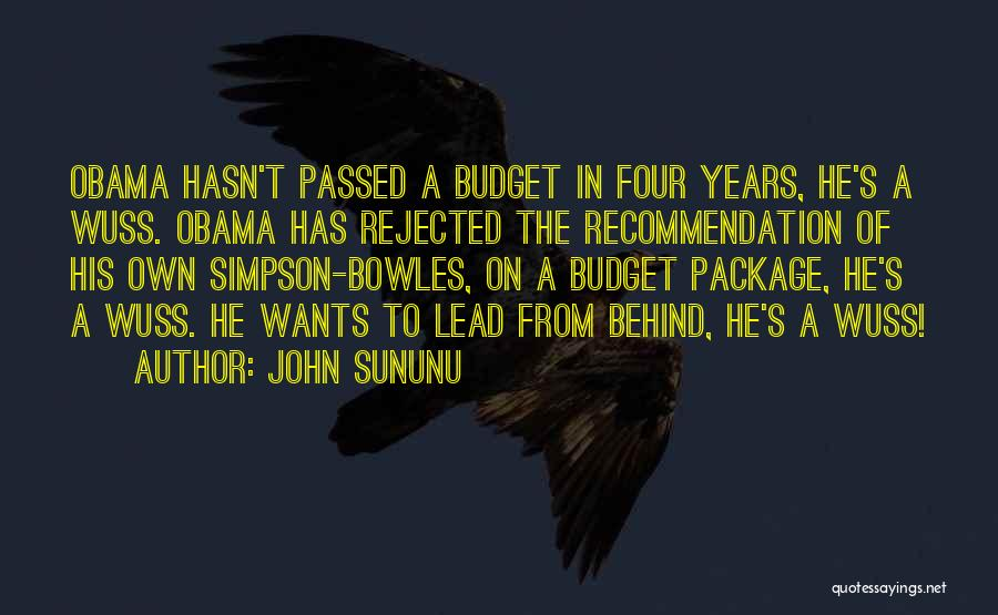Self Recommendation Quotes By John Sununu