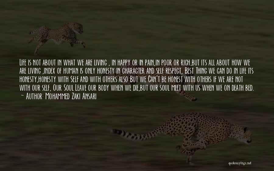 Self Respect Best Quotes By Mohammed Zaki Ansari