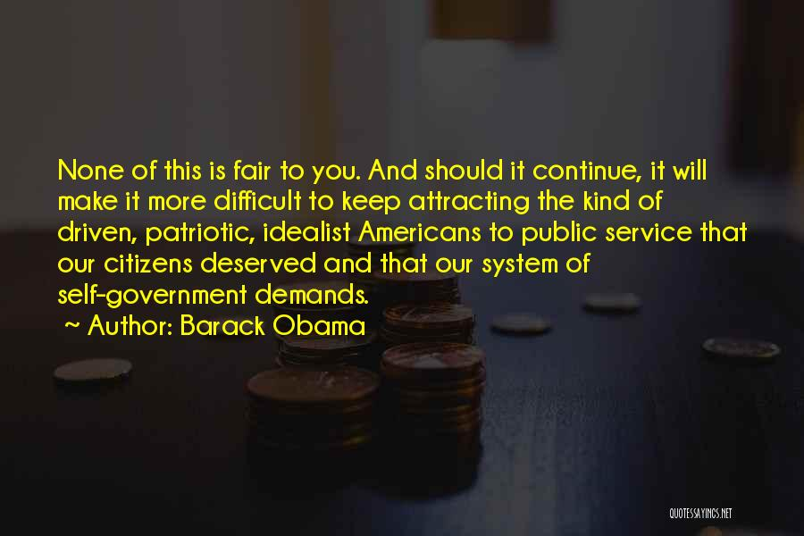 Self Service Quotes By Barack Obama