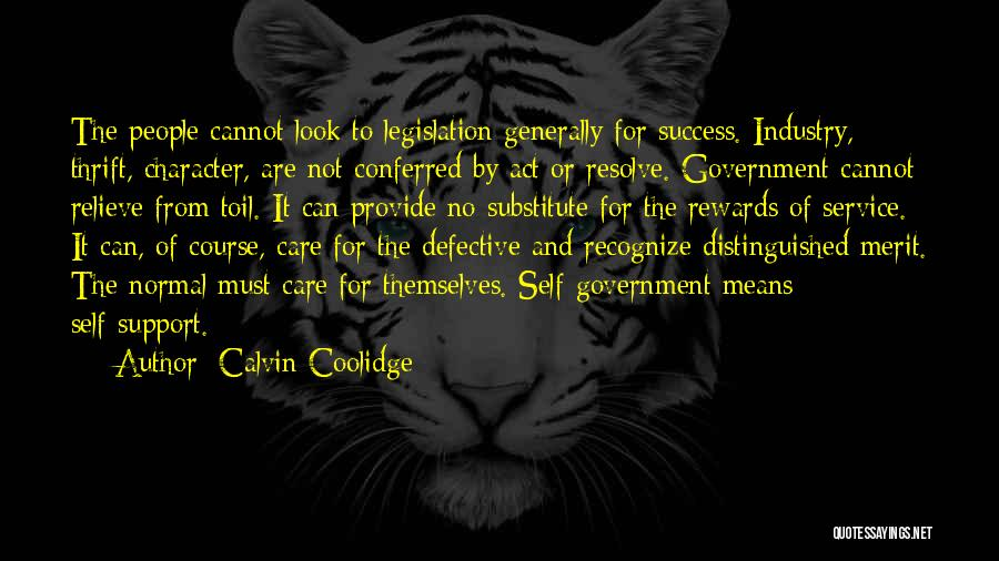 Self Service Quotes By Calvin Coolidge