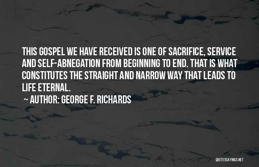Self Service Quotes By George F. Richards