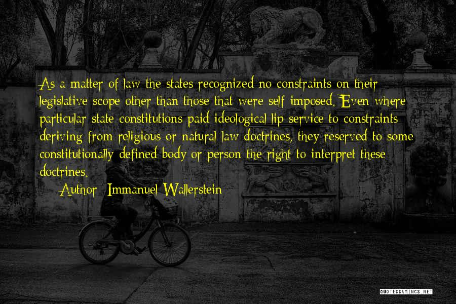 Self Service Quotes By Immanuel Wallerstein