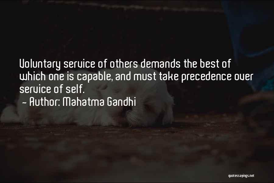 Self Service Quotes By Mahatma Gandhi
