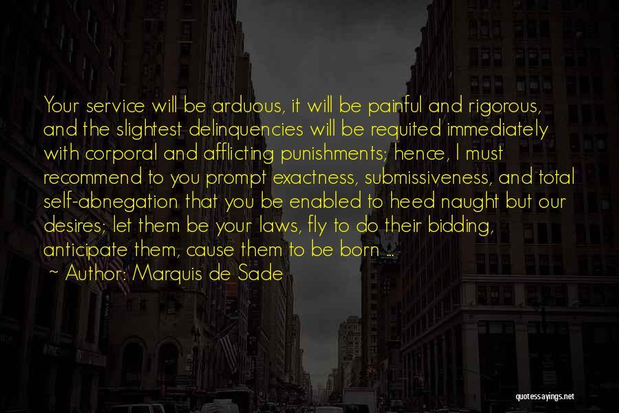 Self Service Quotes By Marquis De Sade