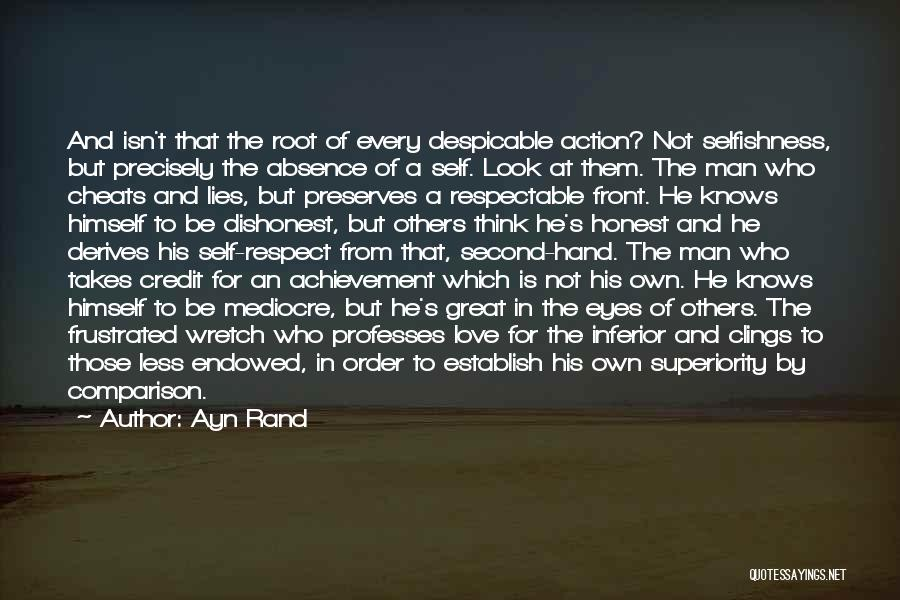 Self Superiority Quotes By Ayn Rand