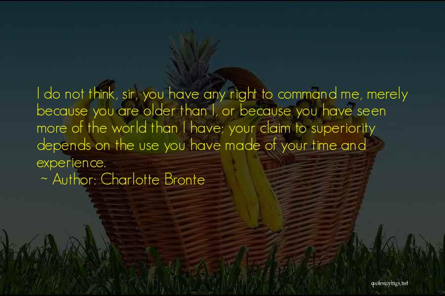 Self Superiority Quotes By Charlotte Bronte