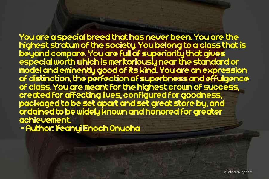 Self Superiority Quotes By Ifeanyi Enoch Onuoha