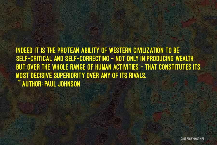 Self Superiority Quotes By Paul Johnson