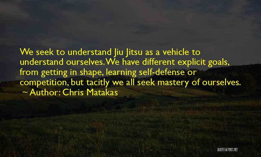 Self Understanding Quotes By Chris Matakas