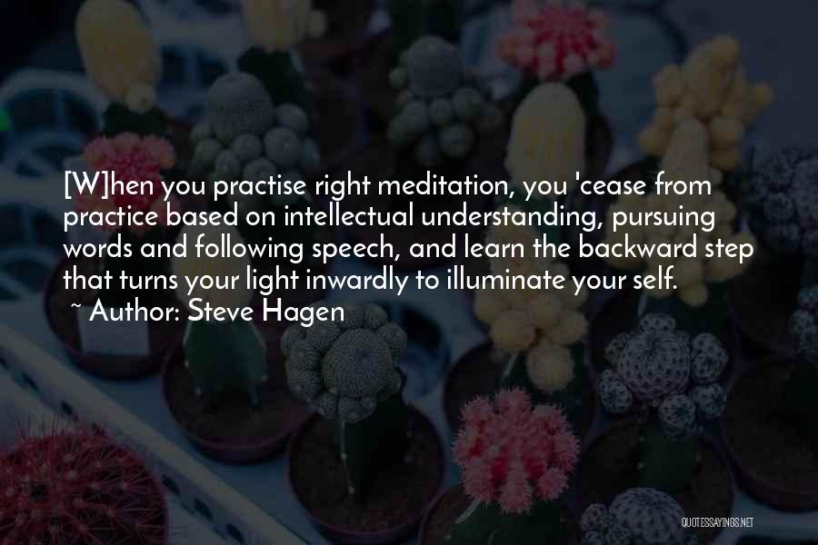 Self Understanding Quotes By Steve Hagen