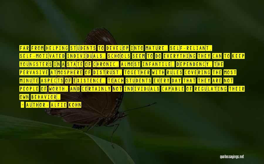 Self Worth Quotes By Alfie Kohn