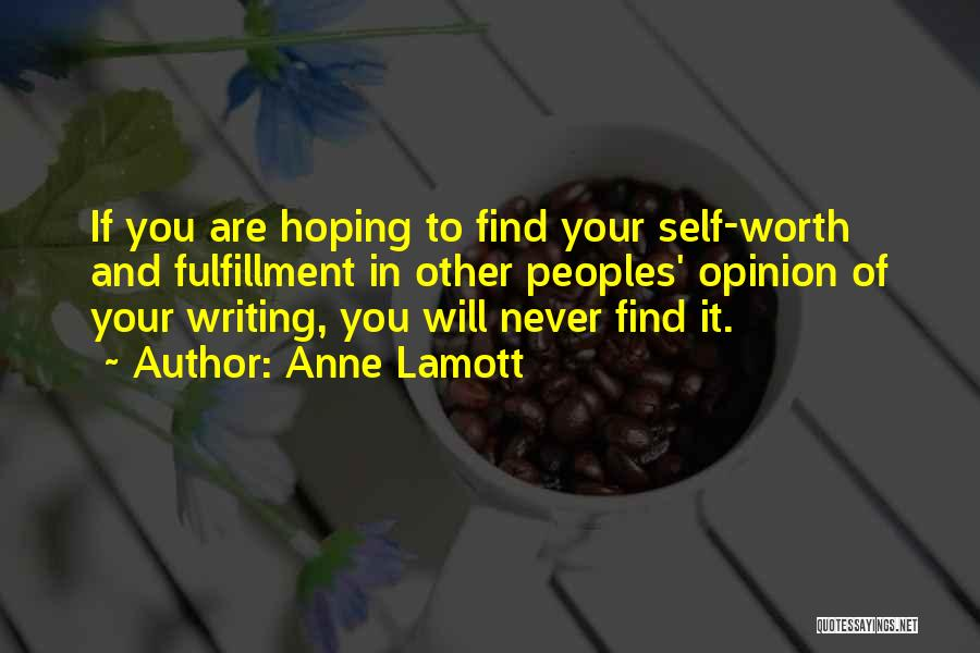 Self Worth Quotes By Anne Lamott