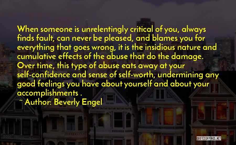 Self Worth Quotes By Beverly Engel