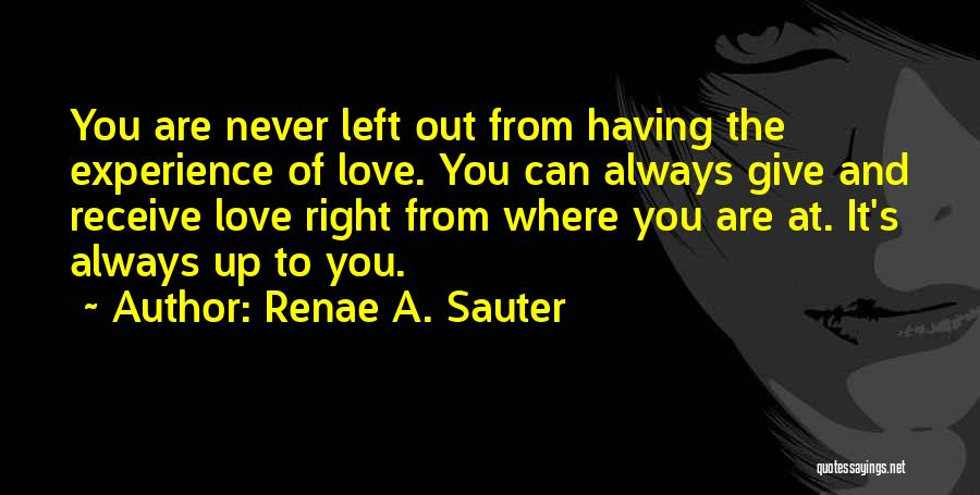 Self Worth Quotes By Renae A. Sauter