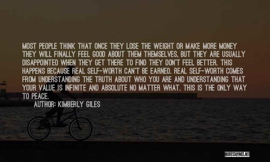 Self Worthiness Quotes By Kimberly Giles