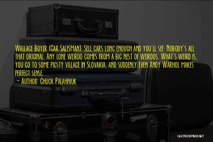 Sell Car Quotes By Chuck Palahniuk