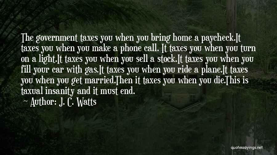 Sell Car Quotes By J. C. Watts