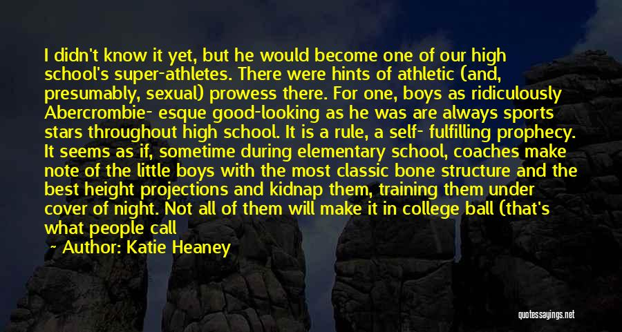 Seniors In Sports Quotes By Katie Heaney