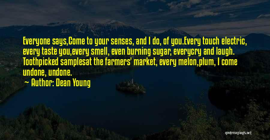 Senses Smell Quotes By Dean Young