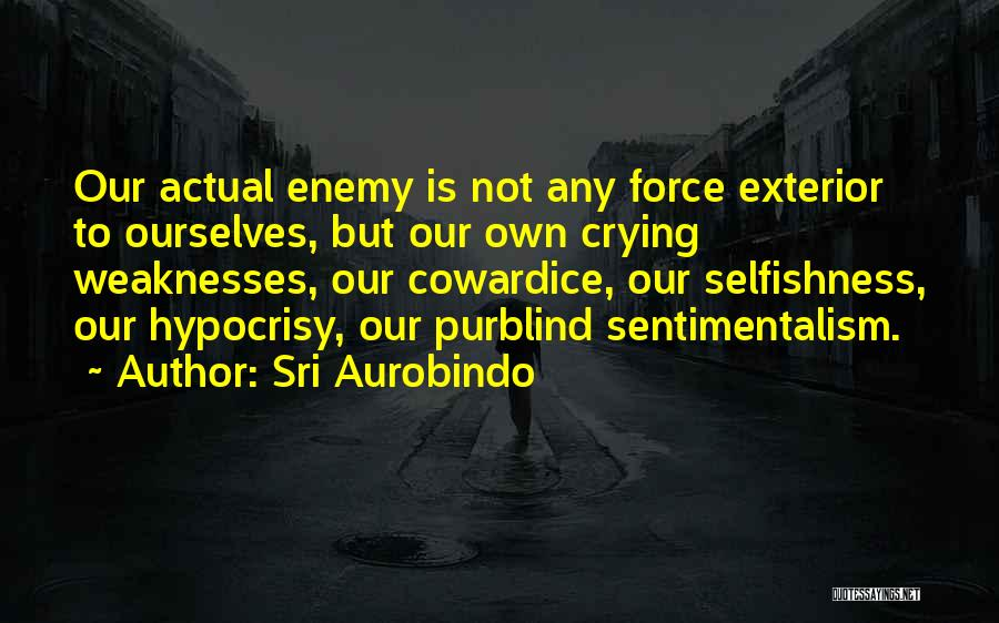 Sentimentalism Quotes By Sri Aurobindo