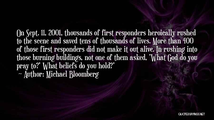 Sept. 9 11 Quotes By Michael Bloomberg