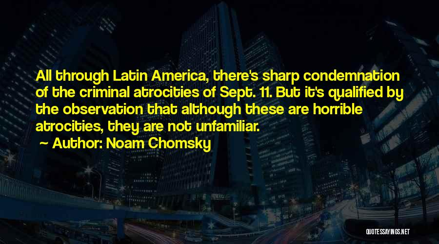 Sept. 9 11 Quotes By Noam Chomsky