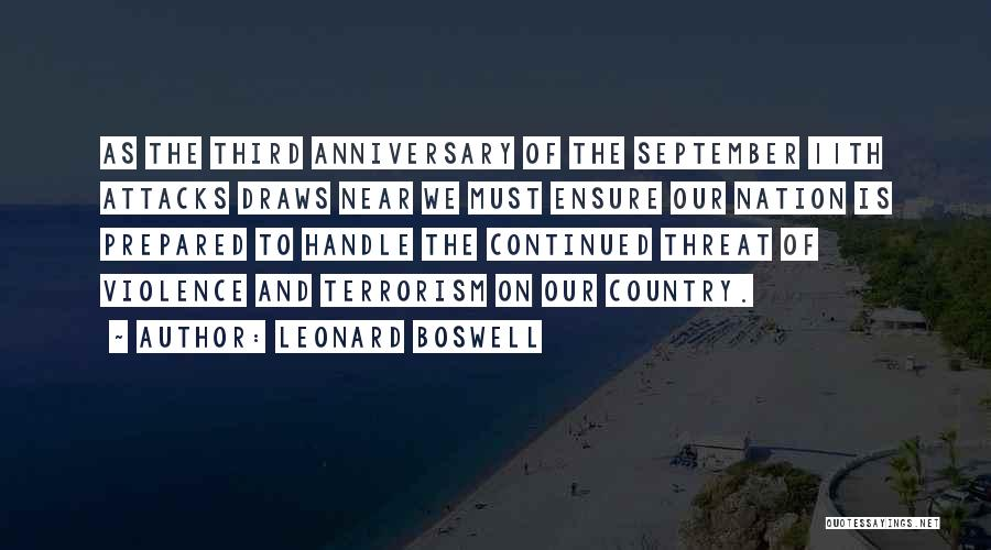 September 11th Anniversary Quotes By Leonard Boswell