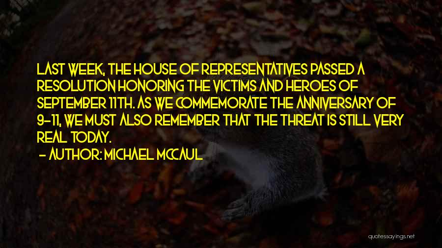 September 11th Anniversary Quotes By Michael McCaul