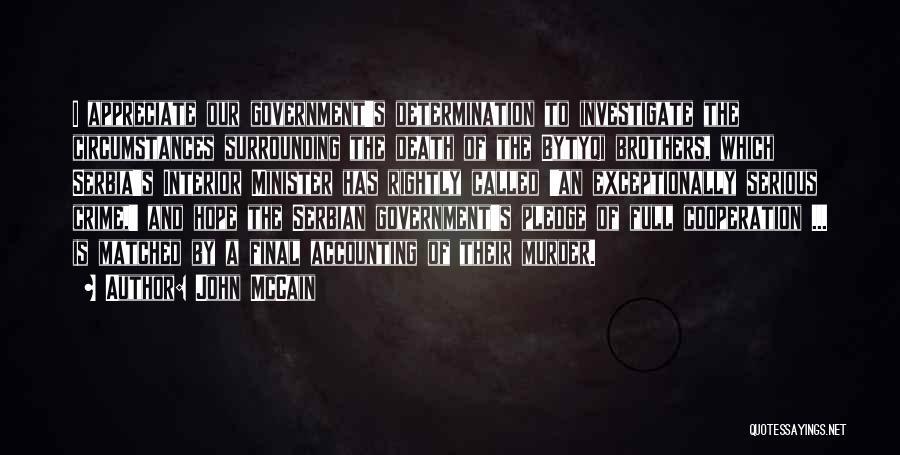 Serbian Quotes By John McCain