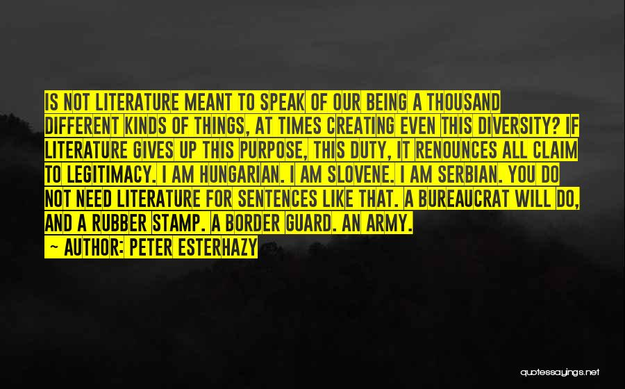 Serbian Quotes By Peter Esterhazy