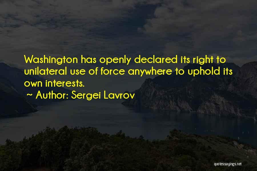 Sergei Lavrov Quotes 1724076