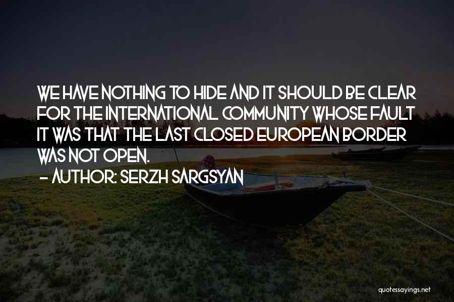Serzh Sargsyan Quotes 1130221