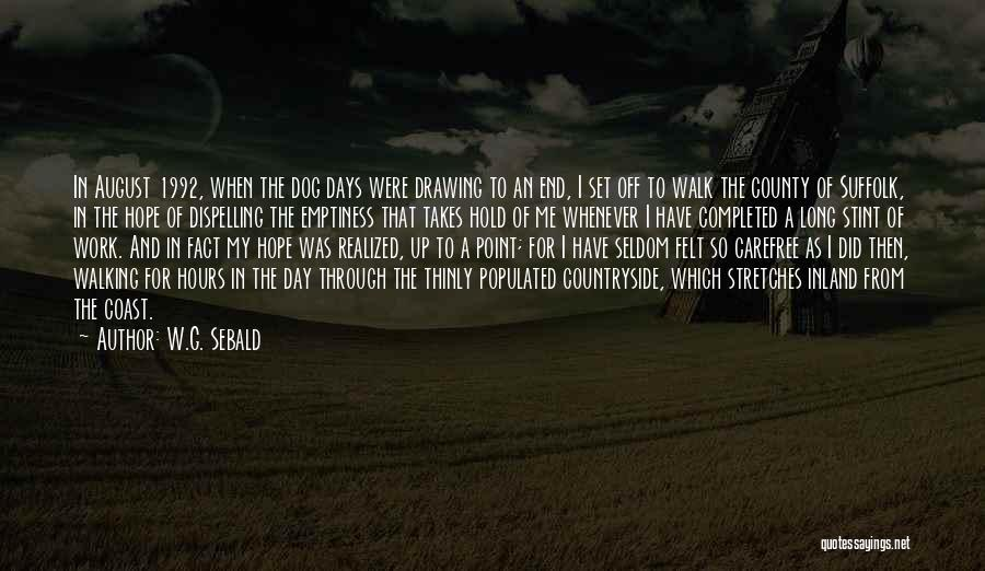 Set Off Long Quotes By W.G. Sebald