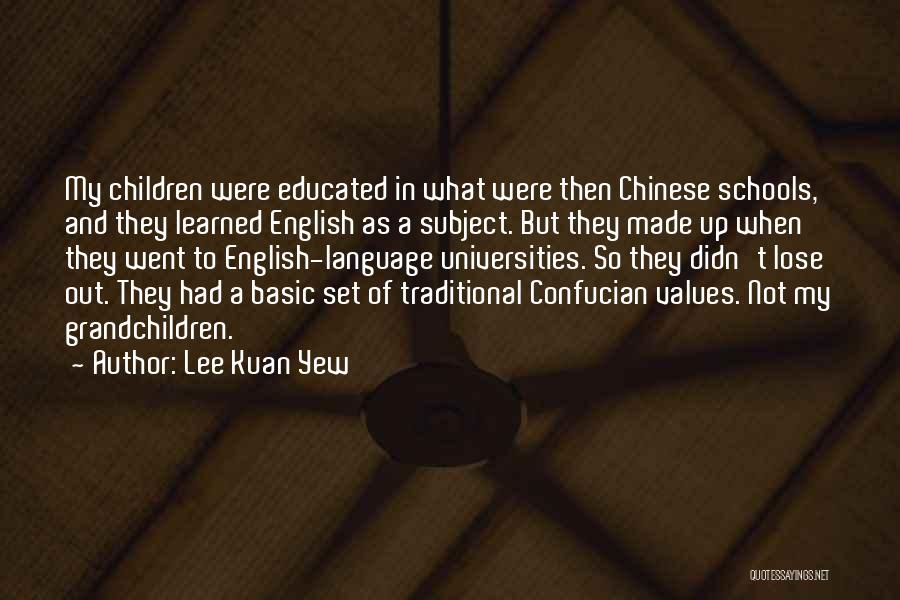 Set Up Quotes By Lee Kuan Yew