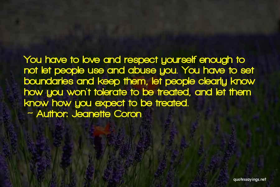 Setting Boundaries Quotes By Jeanette Coron