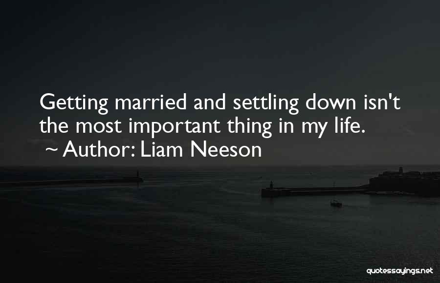 Settling Down In Life Quotes By Liam Neeson