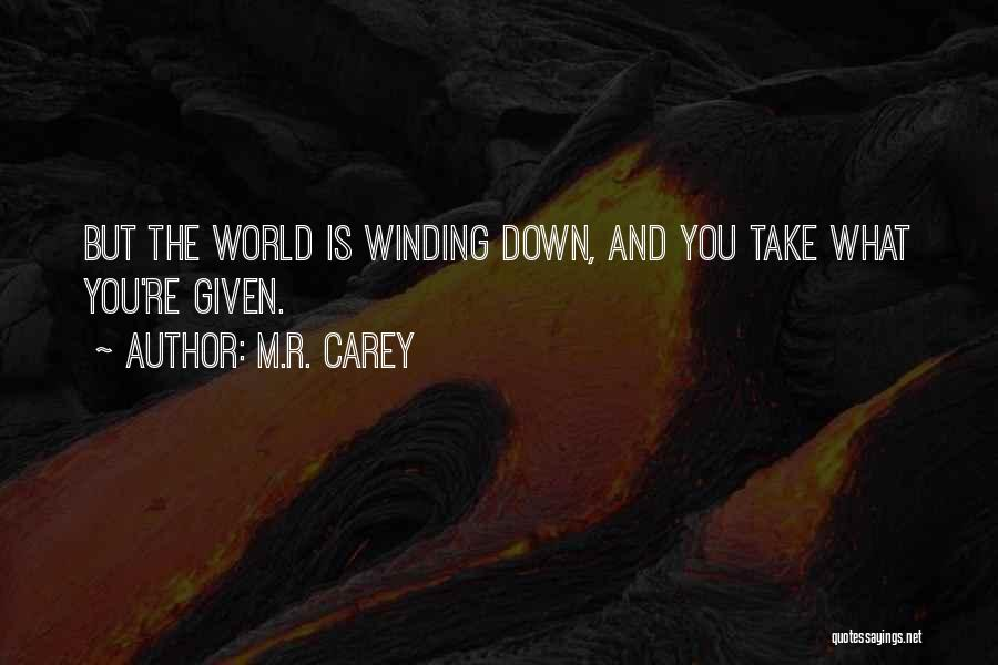 Settling Down In Life Quotes By M.R. Carey